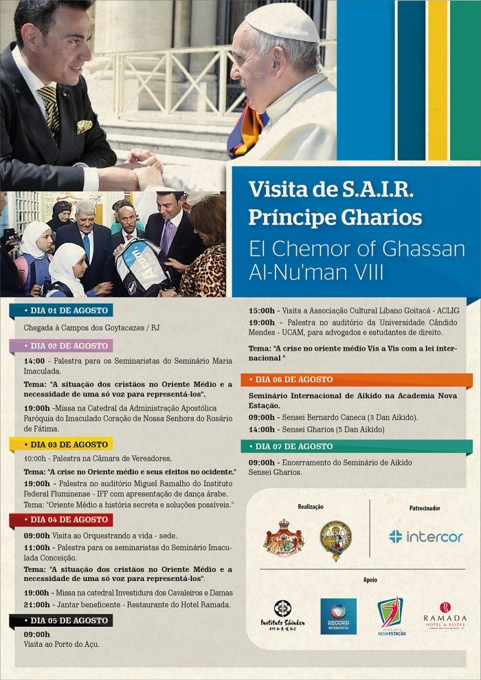 Visita_Principe Gharios_Cartaz A3
