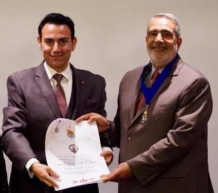 TIRH Prince Gharios and Prince Cheikh Selim, the executive and honorary heads of the Royal House of Ghassan