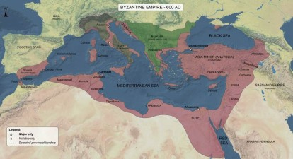 roman byzantine empire map 600