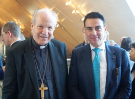 With His Eminence Cardinal Christoph Schoborn, the Archbishop of Austria