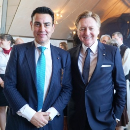 With Austrian MP and event's host Andreas Karlsbock